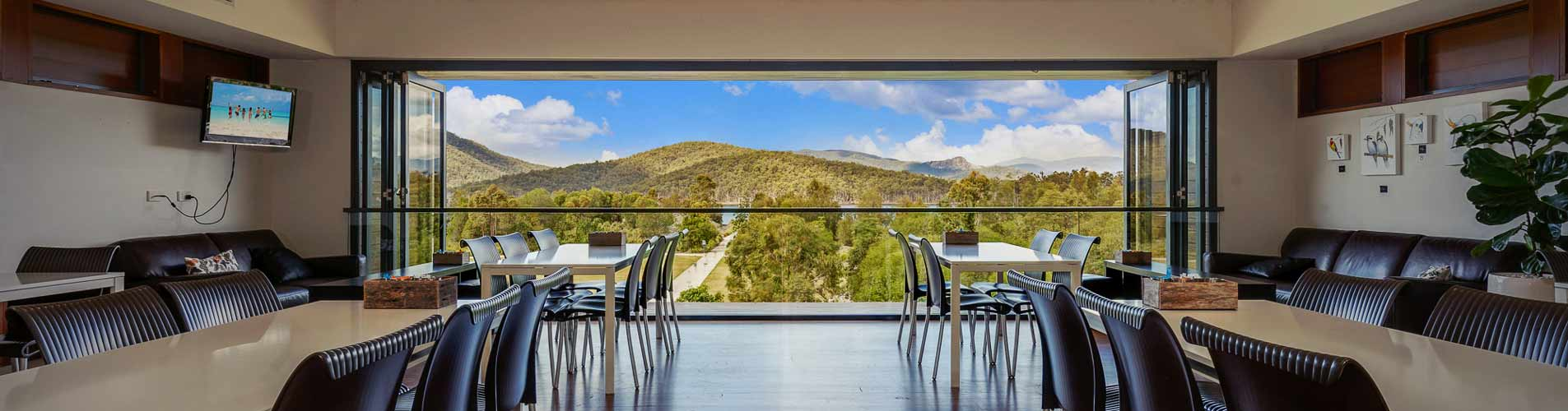 Function room with an amazing view